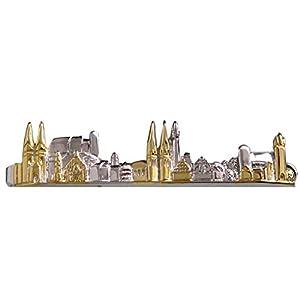 Unbekannt Nürnberg Krawattenklammer Krawattennadel Nürnberger Skyline Bicolor glänzend inkl.Silberbox