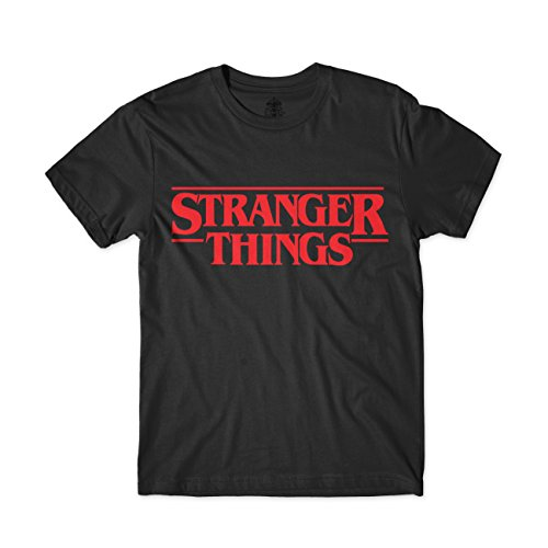 ARTIST Camiseta Stranger Things (M, Negro)