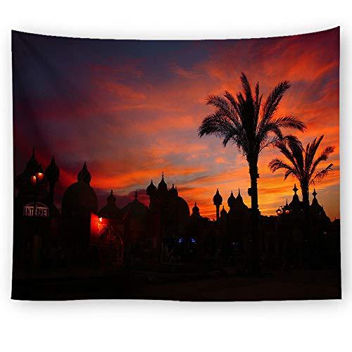 xkjymx Hängende Stoff dekorative Stoff Palmblattdruck Tapisserie Bild 8 150X150cm