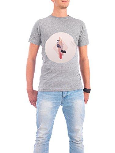 """Design T-Shirt Männer Continental Cotton """"Soft Break II"""" - stylisches Shirt Abstrakt Geometrie Fiktion von Julia Bruch Grau"""