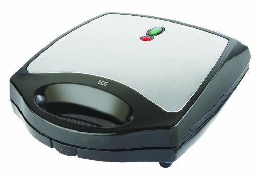 ECG S199 Quattro Sanwichmaker 4er Toaster 8 Dreieckige Sandwiches 1100W Edestahldesign