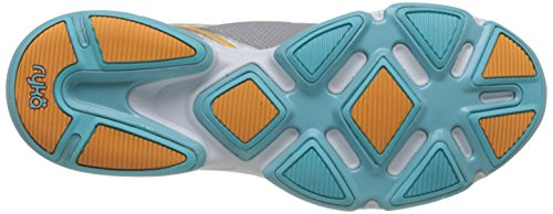 Ryka Devotion Synthétique Chaussure de Course Chrome Silver/Nirvana Blue/Tangerine Orange