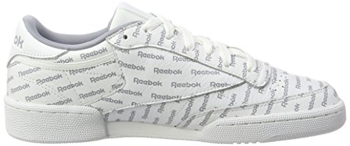 Reebok Club C 85 So, Chaussures de Gymnastique Homme Blanc Cassé (Prnt-white/mtr Gry/prml Red/black/cllg Ryl)