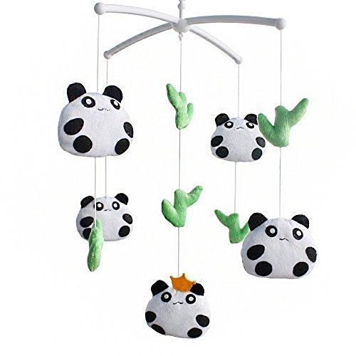 Niedliche hängende Panda Spielzeug, Musical Crib Mobile, [Panda] Plüschtiere