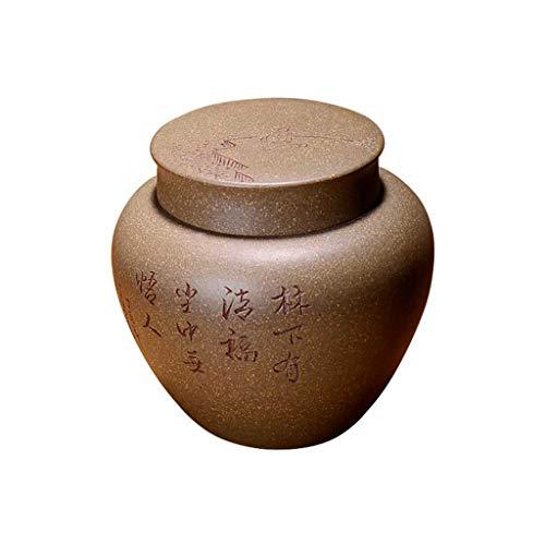 AUGAUST Modèle de Sculpture d'odeur isolé Manuel résistant à l'humidité d'humidité de récipient de Stockage de thé Pourpre (Couleur : A, Taille : 4 * 8cm)