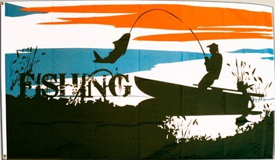 Flagge Fahne Fishing Angeln Angler - 90 x 150 cm