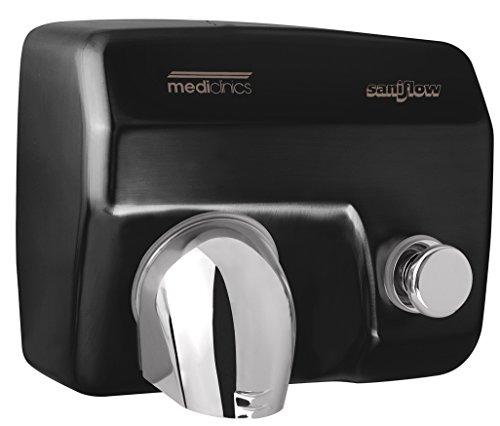 Druckknopf-händetrockner (Mediclinics Saniflow - Händetrockner - mit Druckknopf - schwarz - 2250 W)