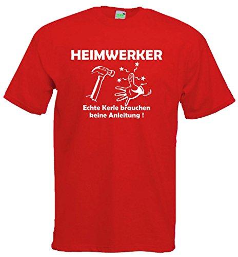 Heimwerker | T-Shirt | Brustdruck | weißer Flock Royalblau