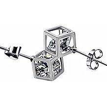 korpikus® Cristallo zircone cubico gioiello in argento metallica Orecchini in borsa regalo GRATIS
