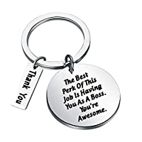 TGBJE Boss Gift The Best Perk of This Job is Having You As A Boss Keychain Organizer Gift Employer Gift Best Boss Gift Retirement Gift for Boss (Awesome boss)