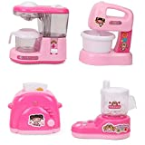 Battery Operated Mini Household Kitchen Sets Toys For Kids - 4 In 1 Appliances Toys (Mixer, JMG, Blender, Toaster)