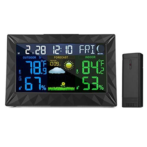 GBPHH Wetterstation Sans fil La météo Horloge de prévision Horloge météo Intérieur et extérieur La température Humidité UNE horloge Écran Couleur UNE horloge