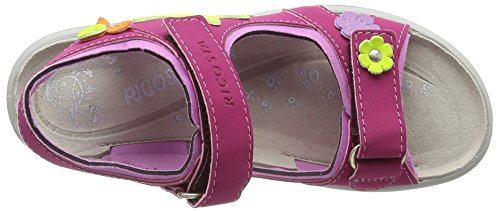 Ricosta Shari, Sandales ouvertes fille Rose - Pink (pink/candy 330)