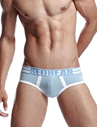New SEOBEAN Mens Low-Rise Sexy Trunk Boxer Brief Underwear 2 Colors