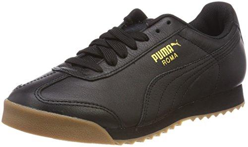 Puma Roma Classic Gum, Unisex-Erwachsene Low-top, Schwarz (Puma Black-Puma Team Gold 2), 44 EU