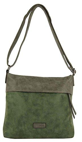 CASAdiNOVA Damen Tasche (ver. Größen + Farben) Umhängetasche Used Look Vintage Neu Herbst 2018 Grün Handtasche Large