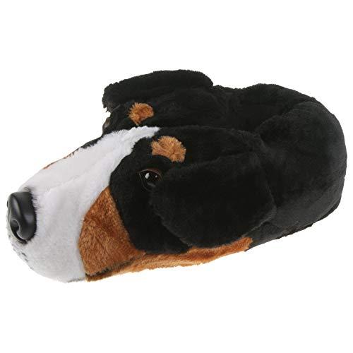 Tierhausschuhe Unisex Hausschuhe Berner Sennenhund, Schwarz, 40/41, TH-Bernersennen