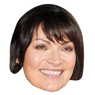 Lorraine Kelly Celebrity Mask, Card Face and Fancy Dress Mask
