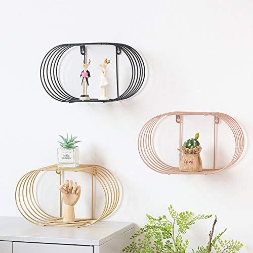 SXFYZCY Creative Floating Wandregal Schmiedeeisen Lagerregal für Wohnzimmer Schlafzimmer Dekorationen 3 Sets,Color,30x17.5x14cm