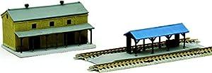 TomyTEC 261612-Sujeción Rural estación de ferrocarril Accesorios