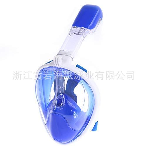 YYSWIM Verspiegelte Schwimmbrille, Voll Trockene Tauchmaske Der Erwachsenen Kinder Schwimmen Schnorcheln Spiegel Myopie Anti-Fog-Schutzbrillen Set, Blau 2
