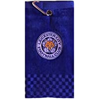 NEW 2018 LEICESTER CITY FC CROSS TRI FOLD GOLF TOWEL BY PREMIER LICENSING.