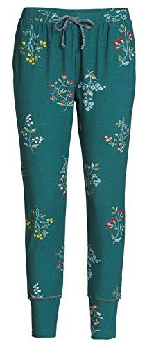 PiP Studio Damen Bobien Winter-Wonderland Schlafhose Pyjamahose Homewear Freizeithose, Grösse:XXL - 44, Farbe:grün