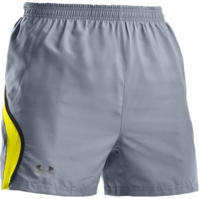 Under Armour Draft (Under Armour Draft II 5 Short Herren Hose Größe SM Running grau gelb Laufshort NEU)