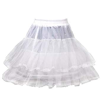 HIMRY Design Jupon de Mariée en Crinoline Jupon, 1 cerceau, 2 couches, avec Lacet, Taille Unique, Adéquat pour Taille 34, Taille 36, Taille 38, Taille 40, - Blanc - KXB-0012