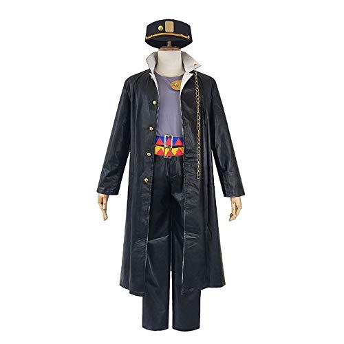Children's Joseph Kostüm - Kujo Jotaro Mantel Hose Set Anime JoJo Bizarre Adventure Cosplay Kostüm für Erwachsene Anzug für Halloween Party,Boy,XL