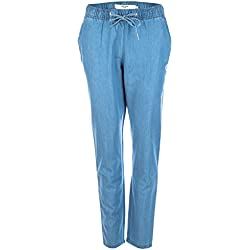 Vero Moda Damen Chambray Stoffhose Emilia light blue denim M/32