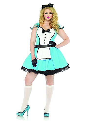 Leg Avenue 85355X - Storybook Alice Kostüm Set, 2-teilig, Größe 48-50, (Halloween Amazon Kostüme Plus Size)