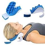 Steellwingsf Il Supporto Comodo Molle Portatile del Collo della Spugna di Viaggio Portatile Si rilassa Il Cuscino del massaggiatore Blu