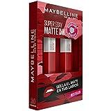 Maybelline New York, SuperStay Matte Ink, Cofre 2 Pintalabios Permanentes Líquidos de Larga Duración, Efecto Mate, Maquillaje