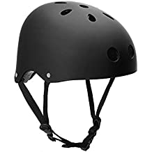 Casco con diseño clásico de Hoaey, para ciclismo, skate, excursionismo, escalda, hombre, color negro, tamaño L(56-61cm)