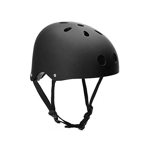 HOAEY Critical Cycles classico Commuter Casco Bici/Skate/escursionismo/Drift, Uomo, Black, L(56-61cm)
