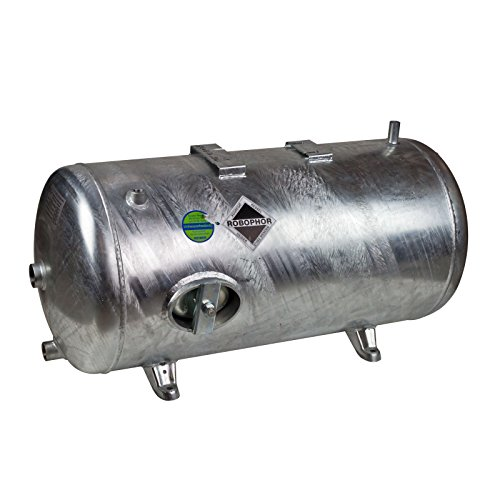 Heider Robophor Druckkessel 200 l Liter 6 bar Druckbehälter Druckspeicher Drucktank liegend verzinkt für Loewe Wasserknecht Kolbenpumpe