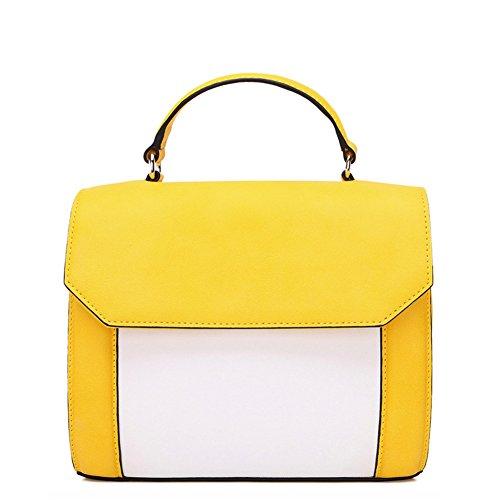 Borse donna estate/Elegante contrasto colore tracolla Messenger bag-B B