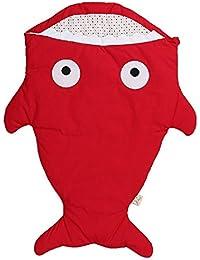 100% Coton Organique Sac de Couchage en Forme de Requin pour Bébé de 0-36 Mois 95 x 73cm
