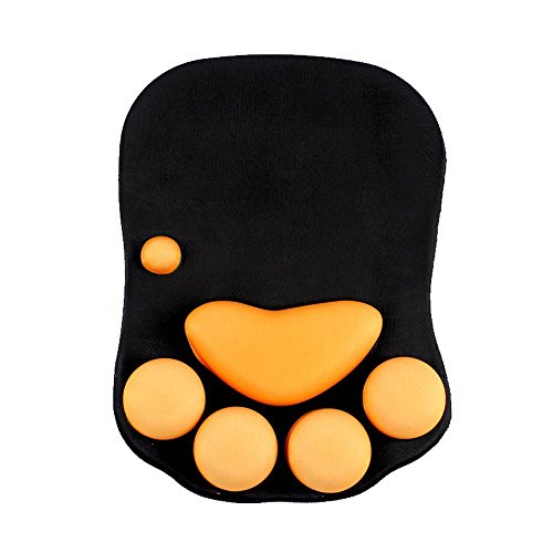 Beyme Katze Paw Mauspad mit Handauflage Silkon Gel Office Gaming Mouse Pad - 273 x 200 x 23mm (Cat Paw Wrist Rest)