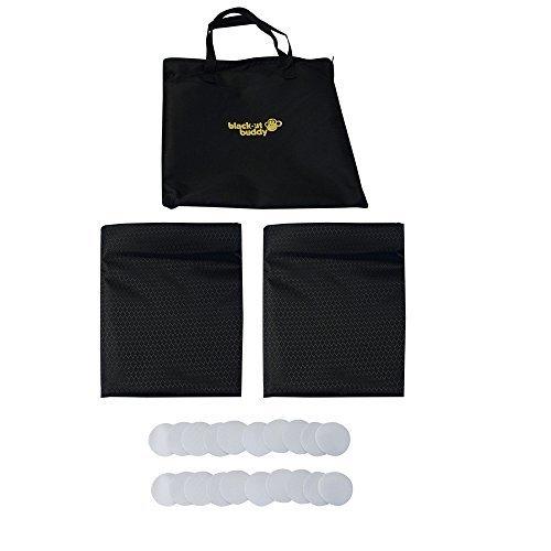 Preisvergleich Produktbild Blackout Buddy - Tragbare Verdunkelungsrollos / Vorhang für zu Hause und unterwegs (2 x Regalmäßig)