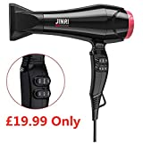 JINRI 2000W Professional Negative Ionic Hair Dryer with 2 Speed and 3 Heat