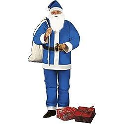 Disfraz de Papá Noel azul adulto - Única