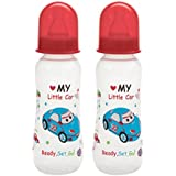 Mee Mee Premium Baby Feeding Bottle, 250ml, Red (Pack Of 2)