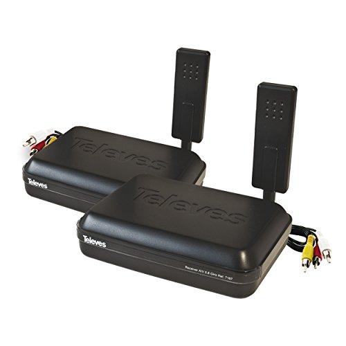 Televes Digidom Sender + Empfänger, 5,8GHz, Audio/Video, 8Kanäle 5.8 Ghz Audio Video Sender