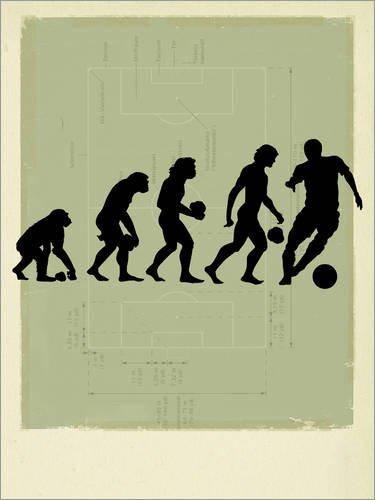 Posterlounge Forex-Platte 100 x 130 cm: Human Evolution Fußball von Smetek/Science Photo Library