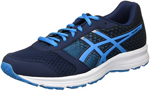 Asics Patriot 8, Scarpe da Corsa Uomo, Multicolore (Dark Navy/Blue Jewel/Black), 43 1/2 EU