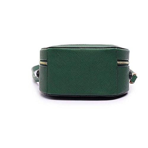 Frau Umhängetasche Handtasche Messenger Bag Tintenstrahldruck Brötchen Wald Green