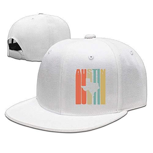 DAIAII Herren Baseball Caps,Hüte, Mützen, Classic Baseball Cap, Vintage Austin Texas Unisex Adjustable Plain Baseball Cap Curved Visor Hat for Running