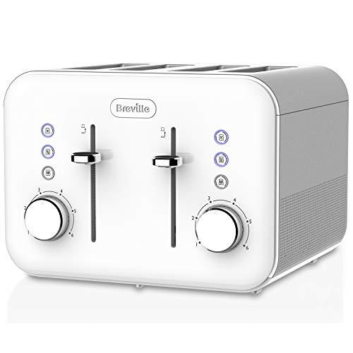 Breville VTT687 4 Slice High Gloss Toaster, White by Breville